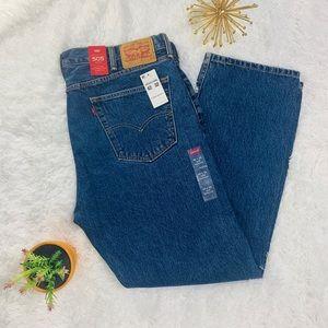 Levi Strauss 505 Mens Jeans 42x32 Reg Fit Denim